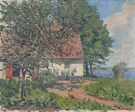 REHDER, Julius, (German 1861-1966): Danish Cottage