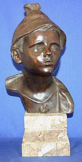 DE MARTINO, Giovanni, (Italy, 1870-1935): Bronzed