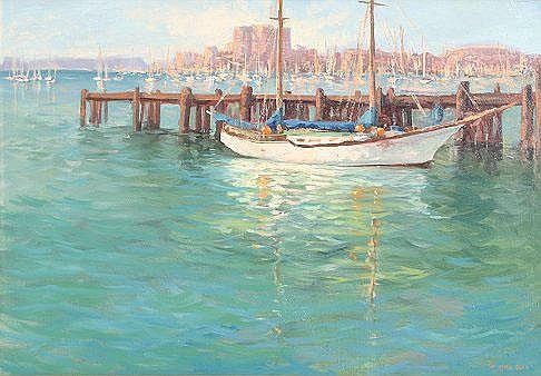 OGLE, Mark, (American, 1952-): San Diego Bay,