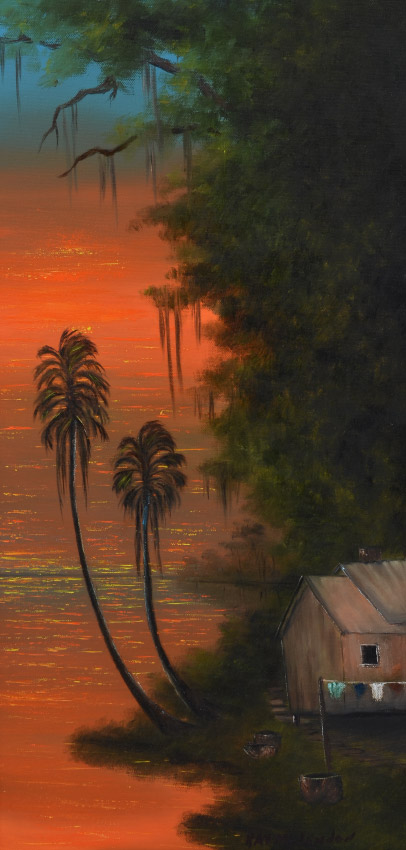 RAY MCLENDON HIGHWAYMEN RIVER SUNSET PAINTING