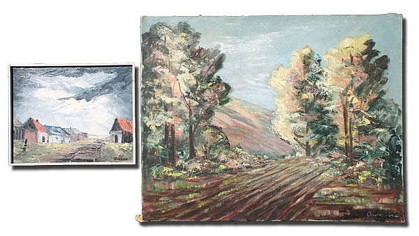 PAIR OF WINIFRED OWENS PAINTINGS