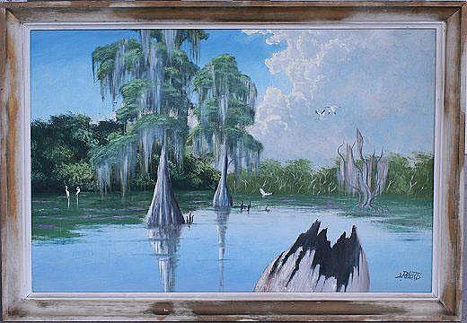L. ROBERTS FLORIDA HIGHWAYMEN PAINTING