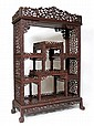 CARVED ORIENTAL ROSEWOOD ETAGERE