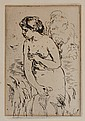 RENOIR ETCHING ''BAIGNEUSE DEBOUT, A' MI-JAMBES