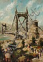 LUDOLF LIBERTS ELISABETH BRIDGE BUDAPEST PAINTING, Ludolfs Liberts, Click for value
