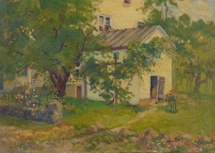 MAY AMES ''THE HOMESTEAD'' PAINTING 1932