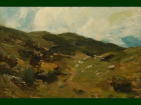 Peter Wishart ARSA (1852-1932) A Hillside