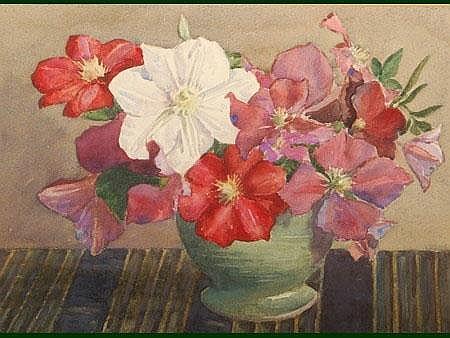 William Brown Menelaws (fl.1901-1942) Clematis