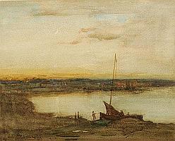 Thomas Austen Brown ARSA (1857-1924) Coastal scene