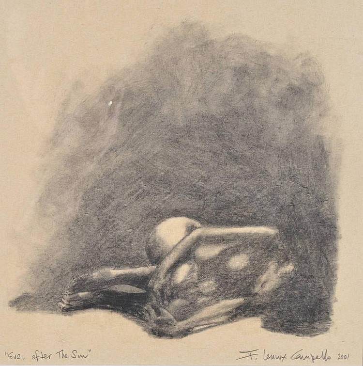 F Lennox Campello (American/Cuban artist) Charcoal