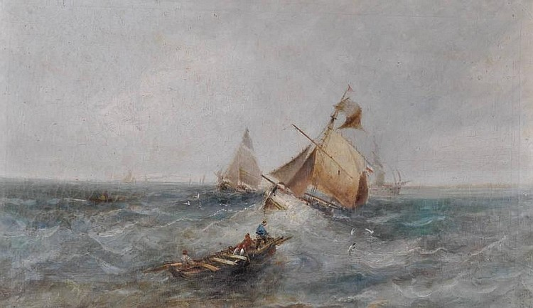 William Webb (1780-1846) Oil on canvas, shipping