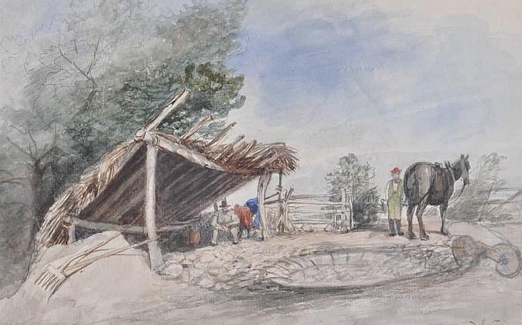 George Cumberland Junior 3 Watercolour sketches