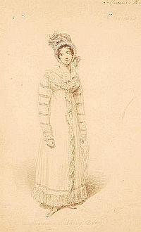 THOMAS UNWINS, pencil and watercolour, fashion