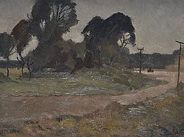 Ferdinand Cirel Oil on board, impressionist Welsh