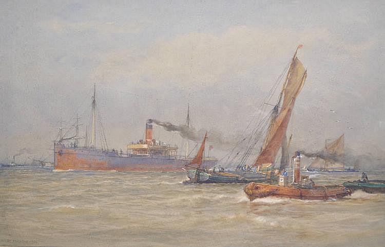 Arthur Wilde Parsons (1854-1931) Watercolour, busy