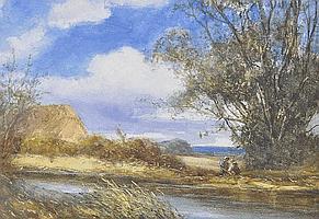 Percy Leslie Lara (born 1870) Watercolour, Harvest