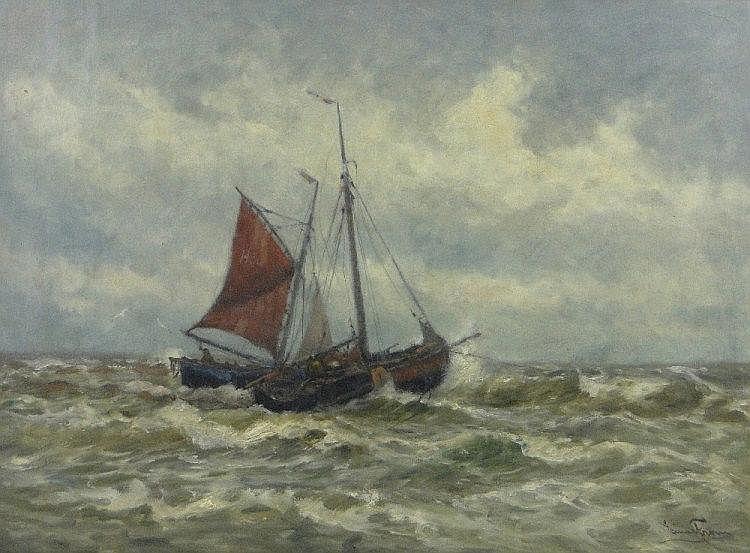 Einar From (Norwegian, 1872-1972) oil on canvas,