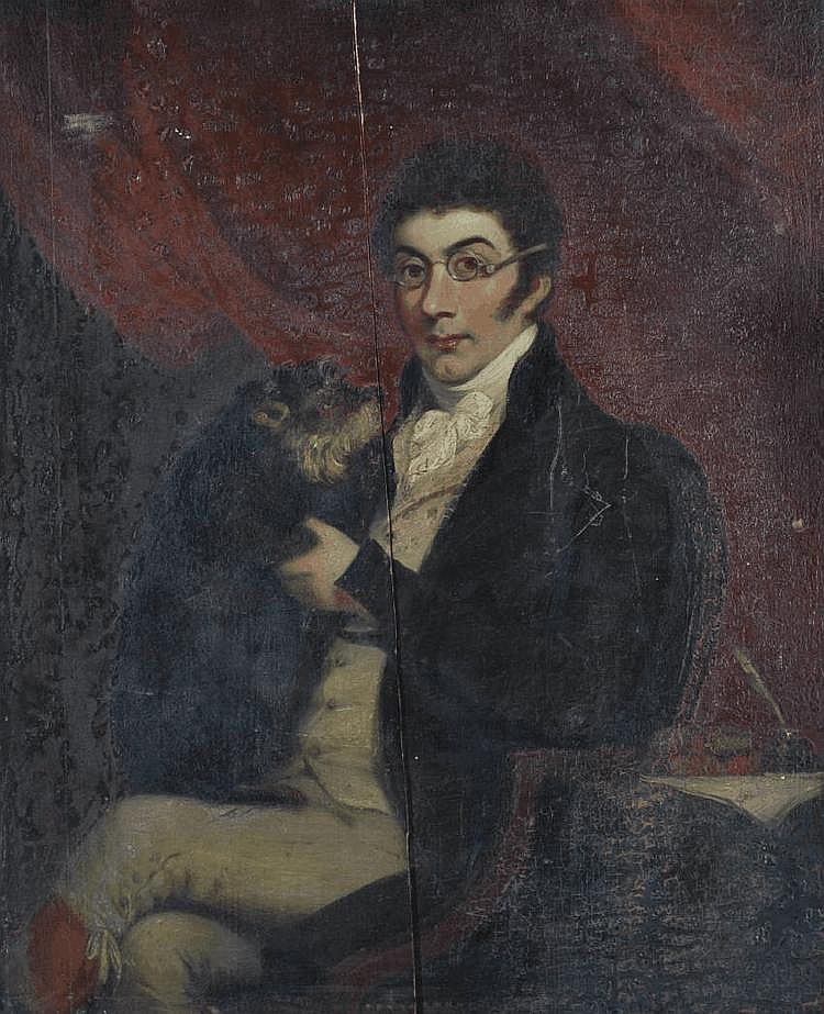 19th century oil on panel, portrait of a gentleman