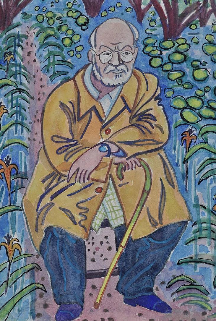 Pegaret Anthony (1915 - 2000) Watercolour portrait
