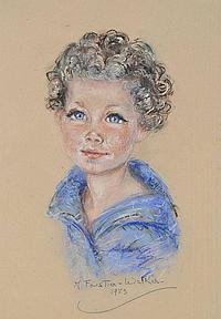 Molly Forestier Walker Coloured pastels, Portrait