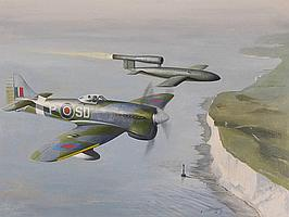 BRIAN WITHAMS Oil on board, Tempest Fighter Plane