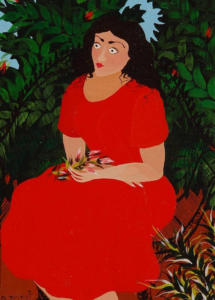 IAPONI ARAUJO (Brazilian Artist 1942-1996) Acrylic