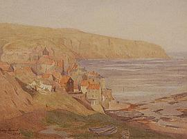 HENRY W DANIEL Watercolour, Robins Hoods Bay,