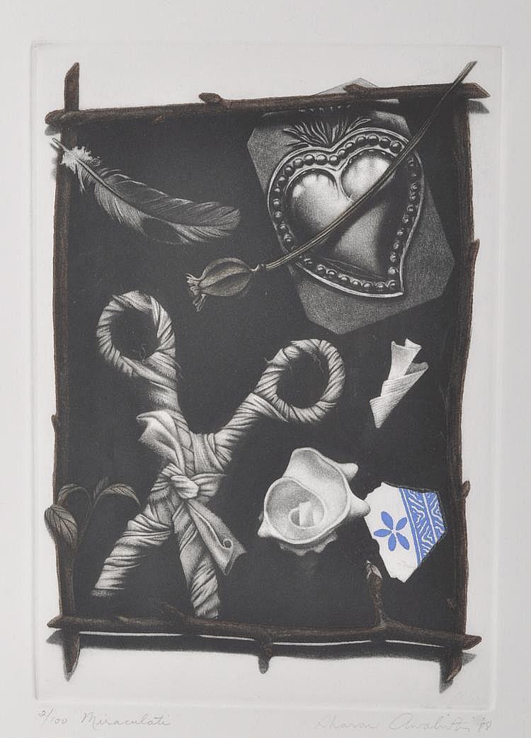 Sharon Aivaliotis (born 1951) mezzotint,
