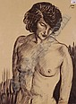 LOUIS JOU (1882-1968), monochrome watercolour,, Luis Jou, Click for value