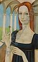 ALEX PORTNER, oil on canvas, Stylised portrait of, Alex  Portner, Click for value