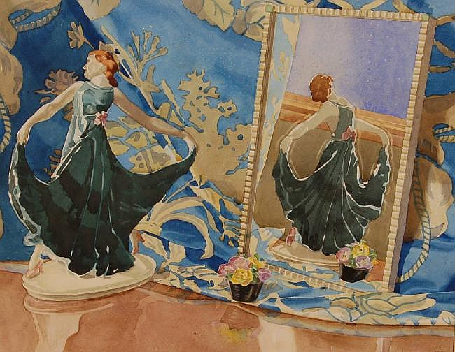 HUGH ADAIR LYNCH, watercolour, 1930s still life