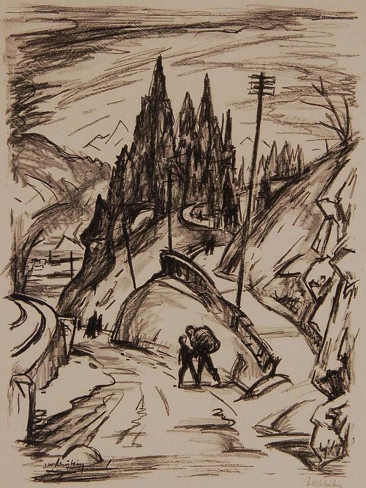 JULIUS WOLFGANG SCHULEIN (1881-1959) Lithograph,