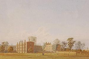 GEORGE PYNE (1800-1884) Detailed watercolour, View