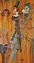 ALEX PORTNER Oil on panel, Clowns and dancers,, Alex  Portner, Click for value