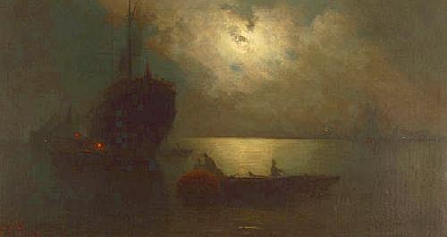 GUILLERMO GOMEZ GIL (1862-1942), oil on canvas,