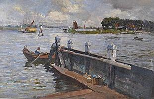 Fred Balshaw (Exb. 1888-1914) Oil on canvas,