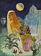 Samira Abbassy (Born 1965) Watercolour, surrealist, Samira Abbassy, Click for value