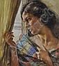 Luigi Amato (1898-1961) Coloured pastels, woman by, Luigi (1898) Amato, Click for value