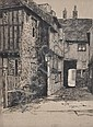 Reginald Green Etching, The Mermaid Passage, Rye,, Reginald Green, Click for value