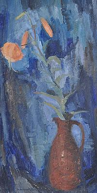 Margaret Firth (1898-1991) Oil on board, still