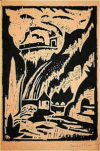 Klein, Bernhard (1888-1967): Hochgebirgstal mit