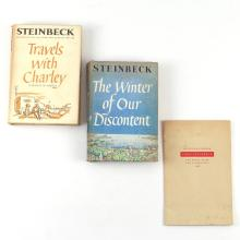 (3vol) JOHN STEINBECK INSCRIBED & FIRST EDITIONS