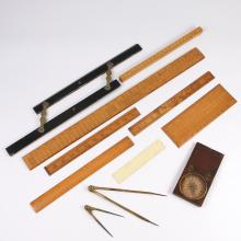 (11pc) NAUTICAL DRAFTING & SURVEYING INSTRUMENTS