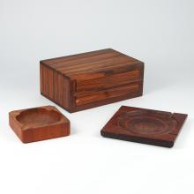 (3pc) EXOTIC WOOD ITEMS