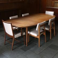 (7pc) 5-PIECE JENS RISOM DINING SUITE