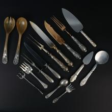 (15pc) MISC. SILVER SERVING PIECES