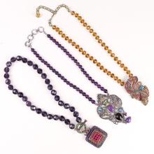(3pc) DESIGNER COSTUME NECKLACES