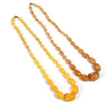 (2pc) AMBER BEAD NECKLACES