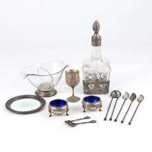 (13pc) MISC. SILVER TABLEWARE