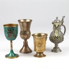 (4pc) MISC. GOBLETS & PITCHER
